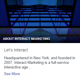Interact Marketing's Facebook About Story