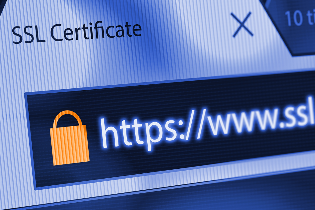 screenshot of SSL certificate on a website