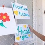 thank you frontline heroes sign.